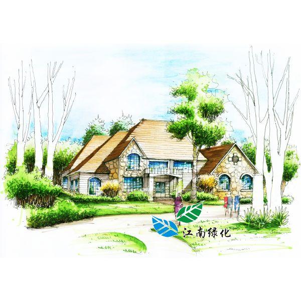 私家别墅庭院绿化景观单独设计